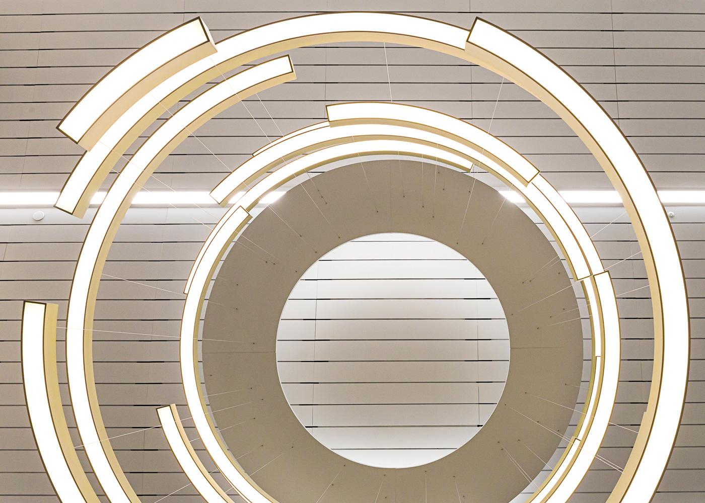 Flurry lighting installation by LUUM