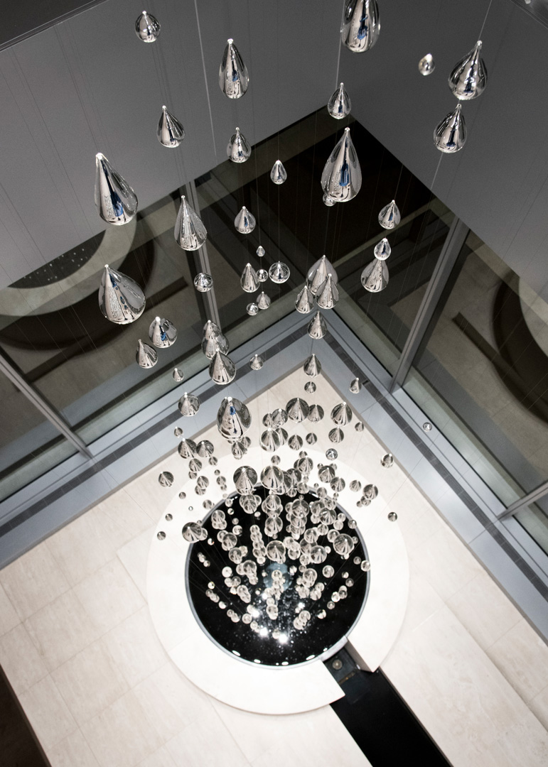 Gensler-Raindrop-Lighting-Installation