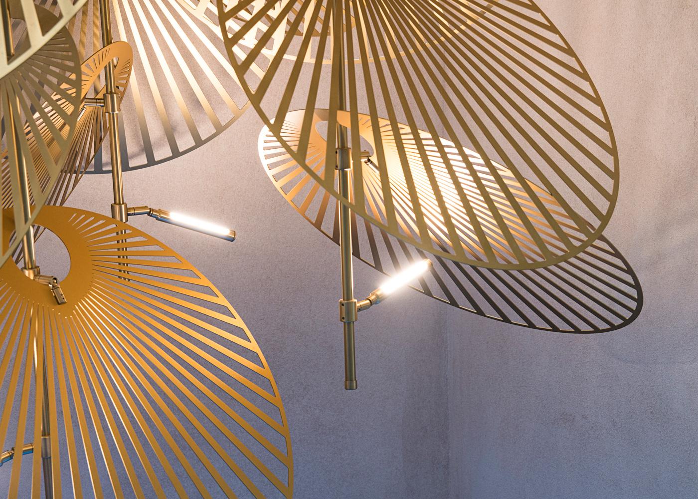 Leaf-Lighting-Installation-Gold