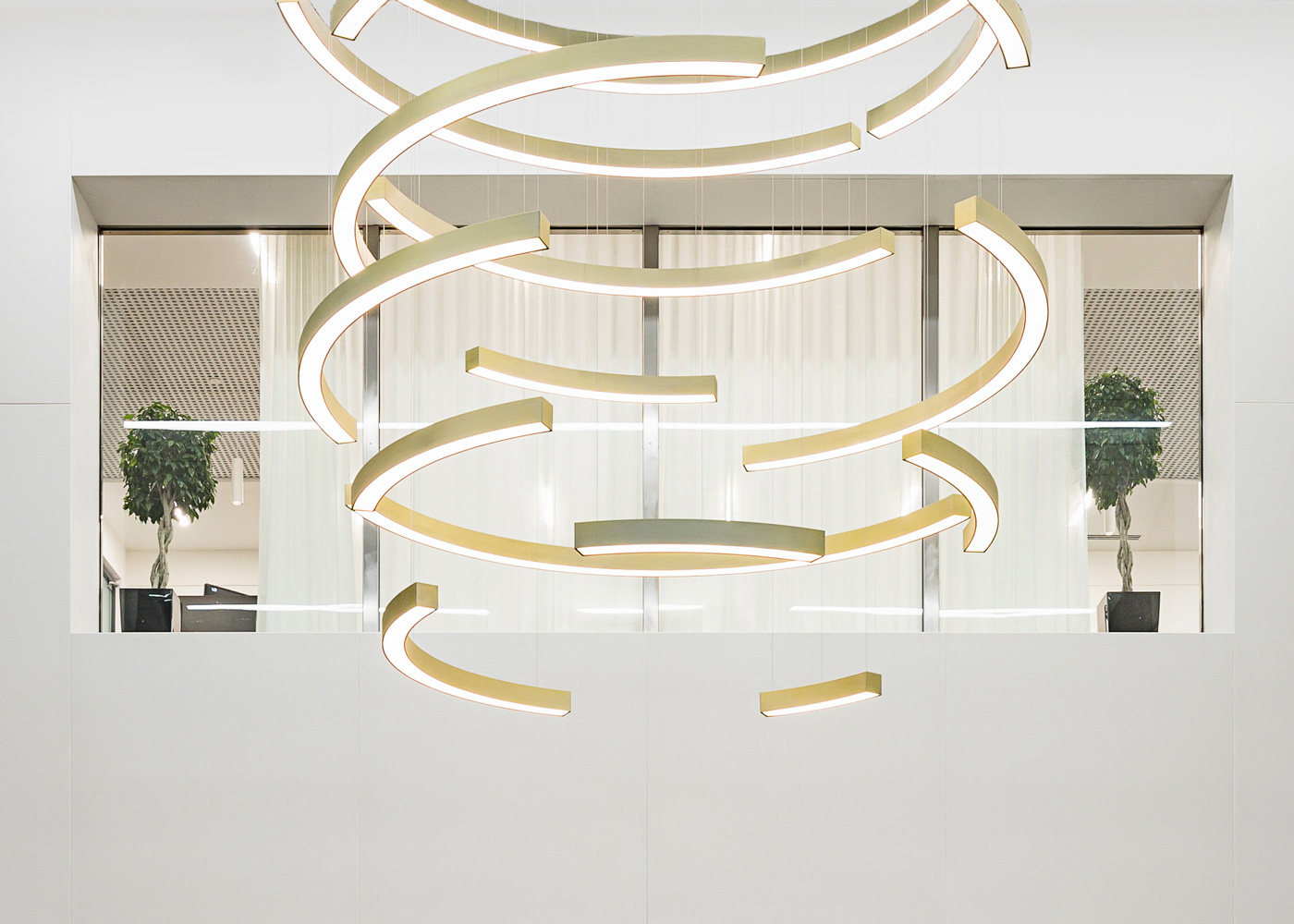 Flurry lighting installation by LUUM